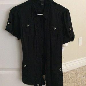 Full zip black dress jacket